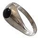 انگشتر نقره عقیق سیاه و ظریف زنانه