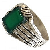 انگشتر نقره عقیق سبز سلطنتی مردانه