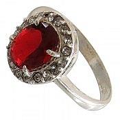 انگشتر نقره جذاب و خوش رنگ زنانه