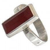 انگشتر نقره عقیق طرح کلاسیک مردانه