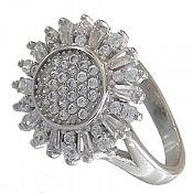 انگشتر نقره سولیتر زیبا و جذاب زنانه