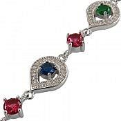 دستبند نقره طرح شادی زنانه