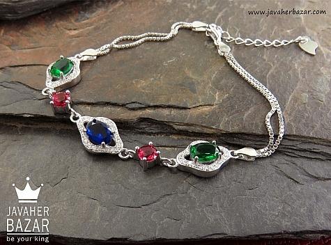 دستبند نقره زیبا و جذاب زنانه - 30347