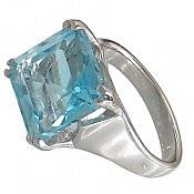 انگشتر نقره توپاز خوش رنگ زنانه