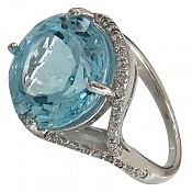 انگشتر نقره توپاز زیبا و خوش رنگ زنانه