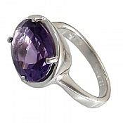 انگشتر نقره آمتیست خوش رنگ و زیبا زنانه