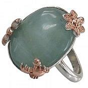 انگشتر نقره آکوامارین زیبا و کم نظیر زنانه