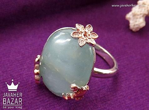 انگشتر نقره آکوامارین زیبا و کم نظیر زنانه - 30371