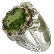 انگشتر نقره زبرجد دورچنگ و زیبا مردانه