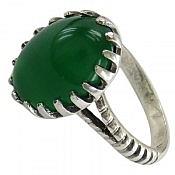 انگشتر نقره عقیق دورچنگ و خوش رنگ مردانه