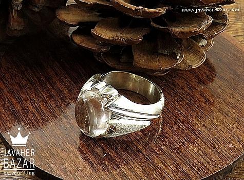 انگشتر نقره در نجف دورچنگ مردانه دست ساز - 30484