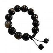 دستبند عقیق سیاه زنانه