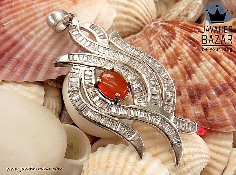 مدال نقره عقیق یمن طرح ملکه - 30550