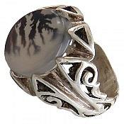 انگشتر نقره عقیق شجر مرغوب مردانه