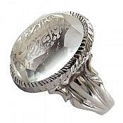 انگشتر نقره در نجف حکاکی یا امیرالمومنین ارزشمند مردانه