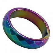 انگشتر حدید هفت رنگ زیبا زنانه