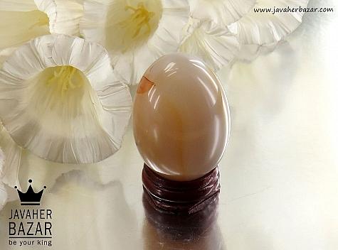 تندیس عقیق شجر تخم مرغی پایه دار - 30784
