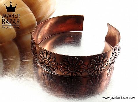 دستبند مس طرح گل زنانه - 30794