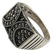انگشتر نقره درشت زنانه