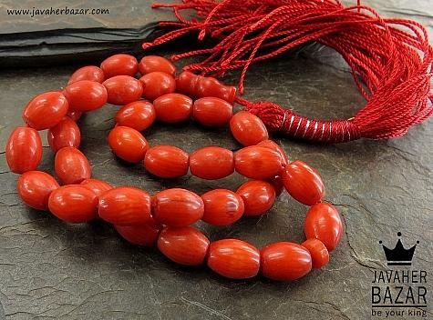 تسبیح مرجان 33 دانه خوش رنگ و خوش دست - 30841