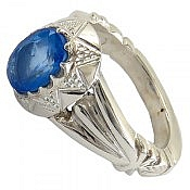 انگشتر نقره توپاز سوئیس اشرافی زنانه