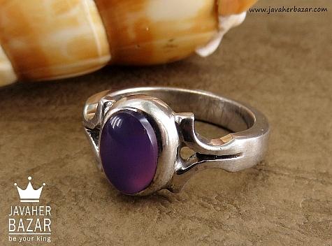 انگشتر نقره عقیق یمن خوش رنگ و ارزشمند مردانه دست ساز - 30910