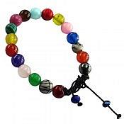 دستبند چندنگین طرح شادی خوش رنگ زنانه