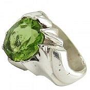 انگشتر نقره زبرجد خوش رنگ و زیبا مردانه