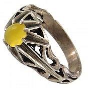 انگشتر نقره عقیق شرف الشمس طرح رایان مردانه
