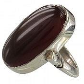 انگشتر نقره عقیق درشت و مرغوب مردانه