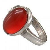 انگشتر نقره عقیق یمن خوش رنگ و ارزشمند مردانه