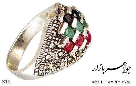 انگشتر نقره یاقوت - 312