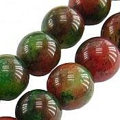 تسبیح جید 33 دانه سبز و قهوه ای خوش رنگ