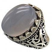 انگشتر نقره عقیق یمن خوش رنگ و مرغوب مردانه