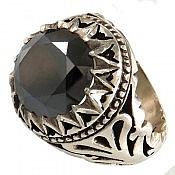 انگشتر نقره موزونایت سلطنتی مردانه