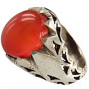 انگشتر نقره عقیق یمن خوش رنگ مردانه