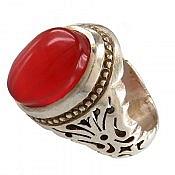 انگشتر نقره عقیق یمن ارزشمند مردانه