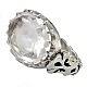 انگشتر نقره در نجف الماس تراش طرح صفوی مردانه