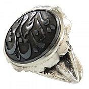 انگشتر نقره حدید صینی حکاکی یا امام حسن مجتبی مردانه