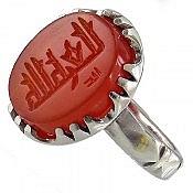 انگشتر نقره عقیق یمن حکاکی العزه لله مردانه