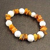 دستبند صدف و سنگ نمک طرح یلدا زنانه
