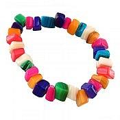 دستبند صدف رنگارنگ طرح نشاط زنانه