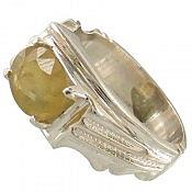 انگشتر نقره یاقوت آفریقایی طرح صفوی و سلطنتی مردانه دست ساز