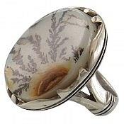 انگشتر نقره عقیق شجر طبیعی هندی خاص مردانه