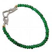 دستبند نقره جید خوش رنگ زنانه