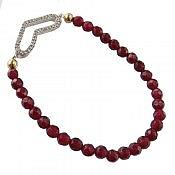 دستبند نقره جید قرمز زیبا زنانه