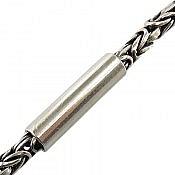 زنجیر نقره 45 سانتی مردانه