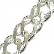 زنجیر نقره 49 سانتی
