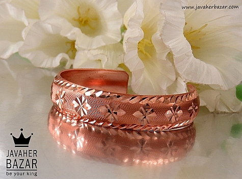 دستبند مس طرح شیما زنانه - 32032