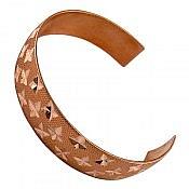 دستبند مس طرح ستاره زنانه